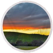 Napa Sunrise Round Beach Towel