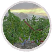 Napa Valley At Dawn Round Beach Towel