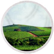 Napa Valley Vineyards 3 Round Beach Towel