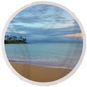 Napili Bay Sunrise Round Beach Towel