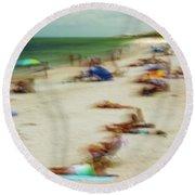 Naples Florida Round Beach Towel