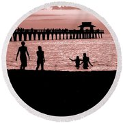 Naples Florida Sunset Round Beach Towel