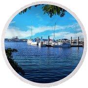 Naples Harbor Series 4054 Round Beach Towel