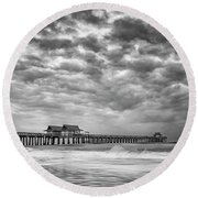 Naples Monochrome Round Beach Towel