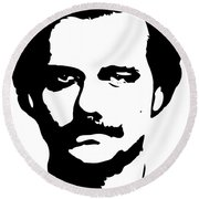Narcotraficante Round Beach Towel