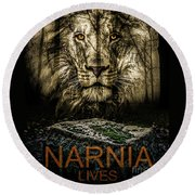 Narnia Lives Round Beach Towel