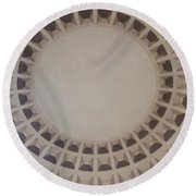 Narrow View Of A Dome Round Beach Towel