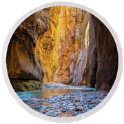 Narrows Cathedral Round Beach Towel