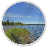 Narrows Point Of View Round Beach Towel