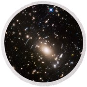 Round Beach Towel featuring the photograph Nasa's Hubble Looks To The Final Frontier by Nasa