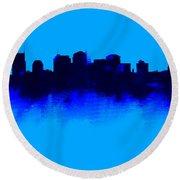 Nashville  Skyline Blue  Round Beach Towel