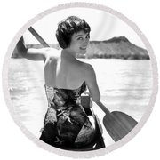 Natalie Wood Round Beach Towel