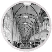 National Airport D C A Round Beach Towel