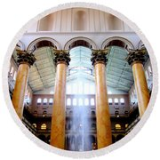 National Building Museum 4 Round Beach Towel by Randall Weidner