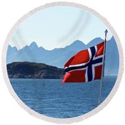 National Day Of Norway In May Round Beach Towel