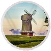 National Golf Links Of America Windmill Round Beach Towel