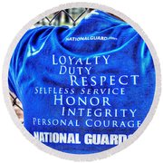 National Guard Shirt 21 Round Beach Towel