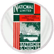 National Limited Round Beach Towel