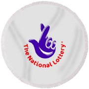 National Lottery T-shirt Round Beach Towel