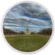 National Mall Round Beach Towel