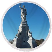 National Monument To The Fore Fathers Round Beach Towel by Catherine Gagne