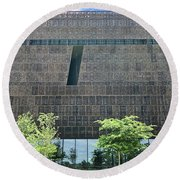 National Museum Of African American History And Culture Round Beach Towel