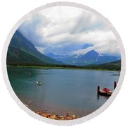 National Parks. Serenity Of Mcdonald Round Beach Towel by Ausra Huntington nee Paulauskaite