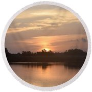 Round Beach Towel featuring the photograph National Photographers Day On Blacks Bayou by John Glass