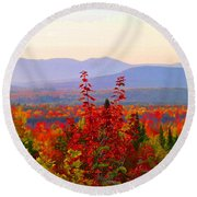 National Scenic Byway Round Beach Towel