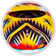 Native American Basket 1 Round Beach Towel
