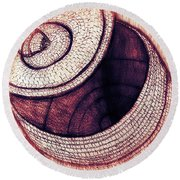 Round Beach Towel featuring the mixed media Native American Basket 2 by Ayasha Loya