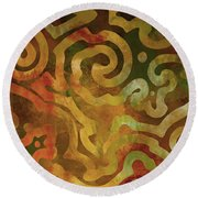 Native Elements Earth Tones Round Beach Towel by Mindy Sommers