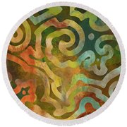 Native Elements Multicolor Round Beach Towel by Mindy Sommers