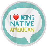 Native Pride Round Beach Towel