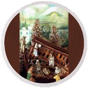 Nativity Of Our Lord Round Beach Towel