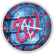 Nats Time Round Beach Towel