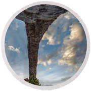 Round Beach Towel featuring the photograph Natural Arch 2 by Leland D Howard