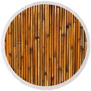 Natural Bamboo Background Round Beach Towel