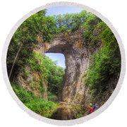 Natural Bridge - Virginia Landmark Round Beach Towel