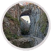 Round Beach Towel featuring the photograph Natural Bridge Virginia by Suzanne Stout