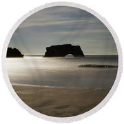 Natural Bridges State Beach Sand Round Beach Towel