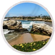 Natural Bridges State Park Beach Round Beach Towel