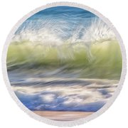 Round Beach Towel featuring the photograph Natural Chaos, Quinns Beach by Dave Catley