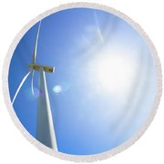 Natural Electricity Round Beach Towel