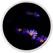 Natural Fireworks Round Beach Towel by Timothy Hack