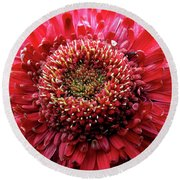 Natural Flower Round Beach Towel