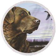 Natural Instinct - Chessie Round Beach Towel