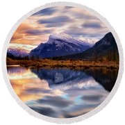 Natural Mirror Round Beach Towel