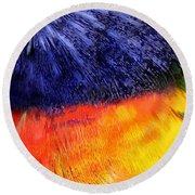 Natural Painter Round Beach Towel
