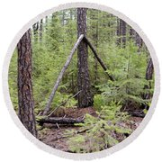 Natural Peace In The Woods Round Beach Towel